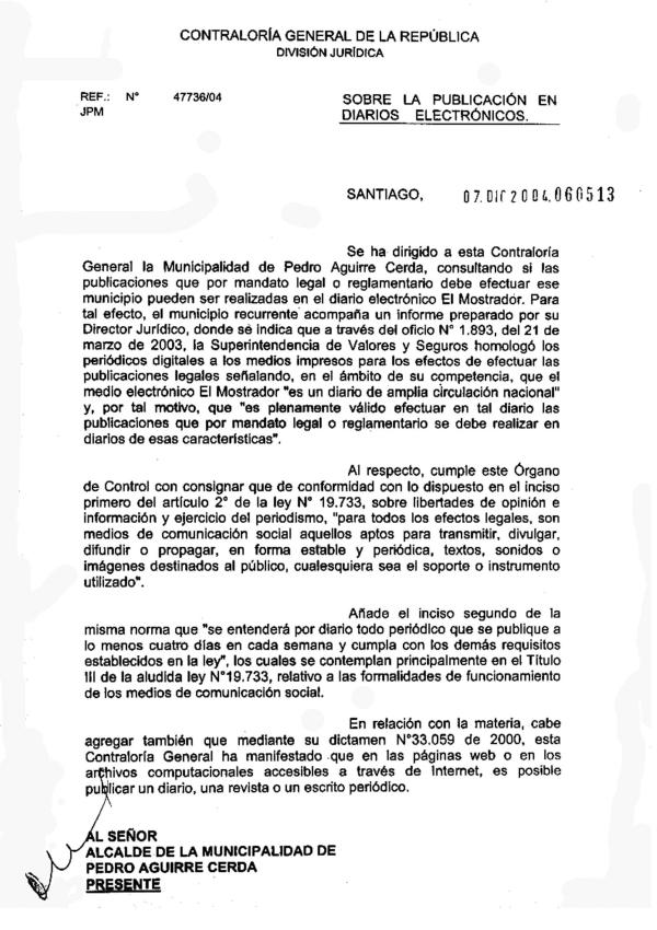 Resolución Contraloría General de la República