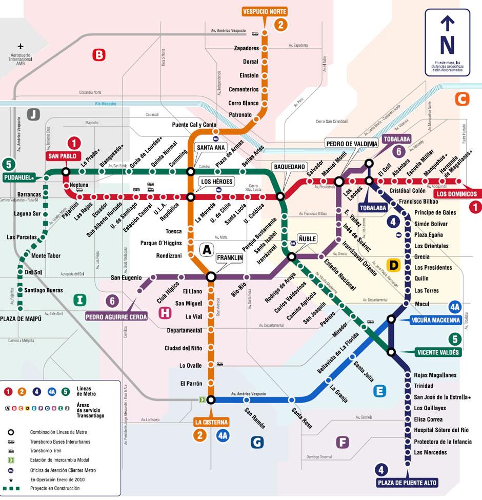 Plano Red Metro Santiago Linea 6