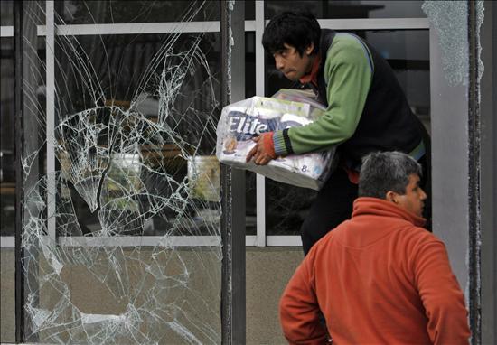 terremoto saqueos
