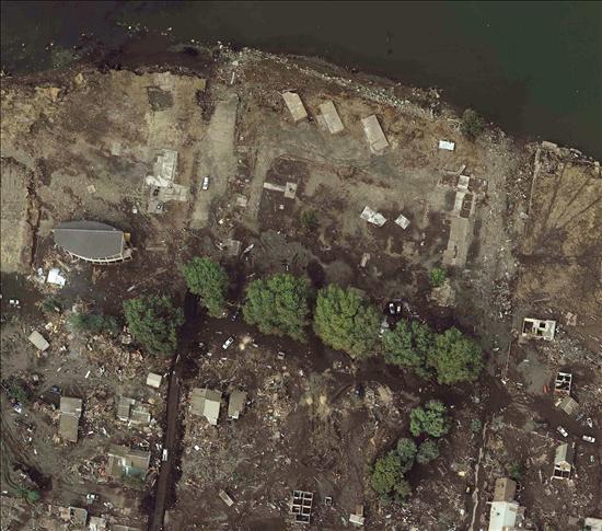 Imagen fotogramétrica cedida hoy, viernes 5 de marzo de 2010, de la destrucción en la localidad de Constitución