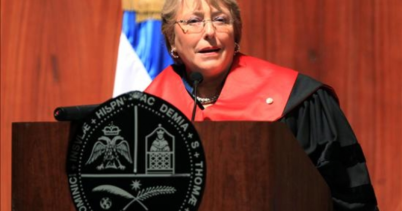 La ex presidenta Bachelet, doctora honoris causa por universidad dominicana