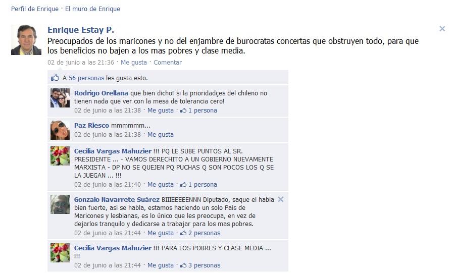 El Facebook de Enrique Estay