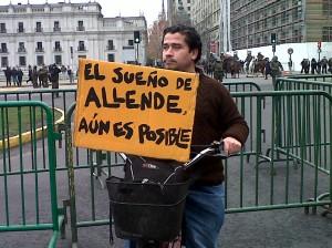 Los carteles fueron un elemento clave en la manifestación.