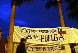 Huelguistas de mina La Escondida instan al Gobierno a mediar en conflicto