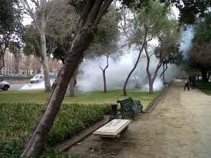 Enfrentamientos en Plaza Italia