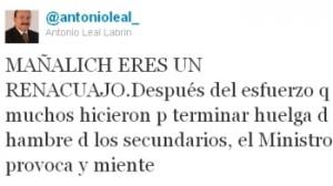 Twitter de Leal