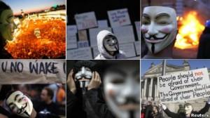 La máscara del protagonista de la película V de Vendetta se ha convertido en un emblema de los grupos de protesta antisistema. ¿Qué hay detrás?