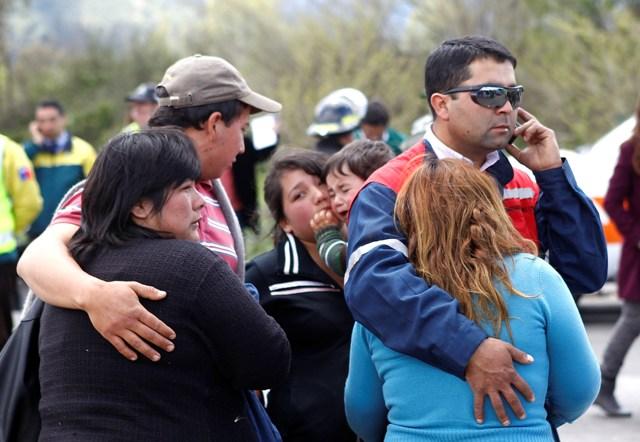 Familiares de las víctimas llegaron hasta el lugar