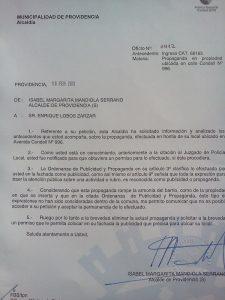 parte municipalidad de Providencia