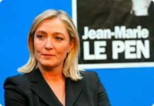 Marine Le Pen va al Líbano y se niega a usar velo delante de un líder musulmán
