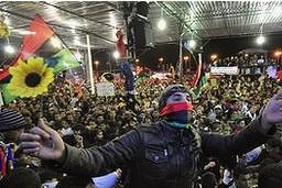 Los libios celebraron en febrero el aniversario del inicio de la revolución que tumbó a Muamar Gadafi.