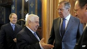 El canciller de Siria, Walid Muallem, discutió el plan de paz de Annan con su homólogo ruso, Sergei Lavrov.