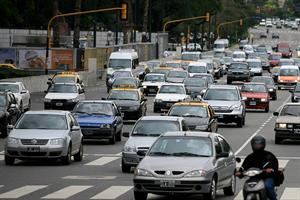Caos vehicular por apagón en el centro de Buenos Aires