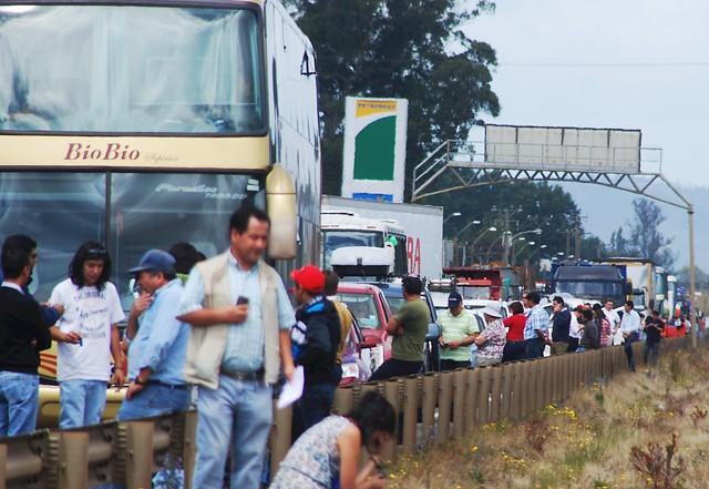 Ruta 5: congestión vehicular al inicio del fin de semana largo