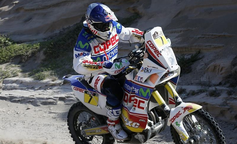 Dakar 2013: 'Chaleco' López finaliza séptimo la quinta etapa y es sexto en la general