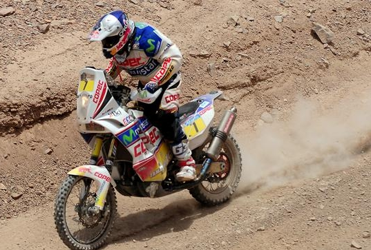 'Chaleco' López es profeta en su tierra: gana la sexta etapa y marcha cuarto en la general del Dakar 2013