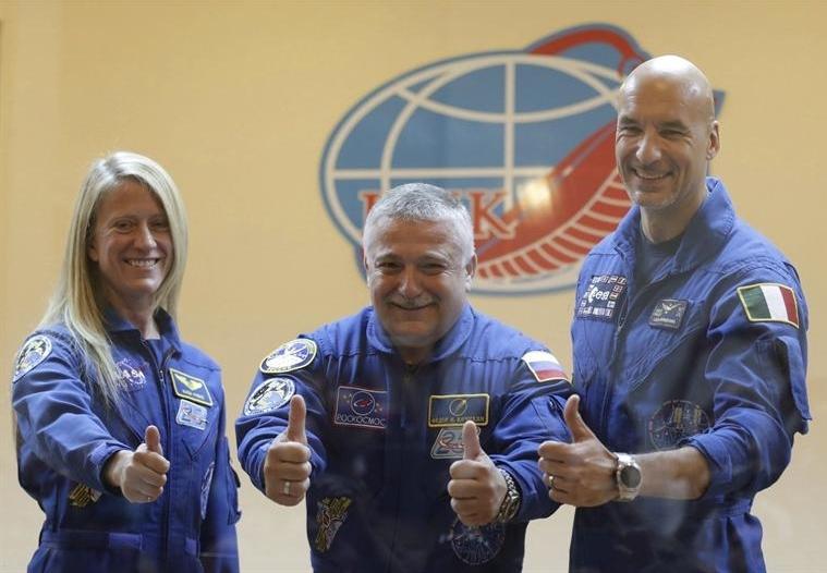 La nave rusa Soyuz despega con tres tripulantes hacia la Estación Espacial Internacional