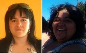 """Carola Concha, a la izquierda, murió horas después de dar a luz a su hijo. Verónica Cosme (a la derecha) falleció el 15 de mayo por el virus AH1N1 mal diagnosticado. Ambos casos son considerados por la ciudadanía movilizada como """"negligencias"""" y encendieron las protestas."""