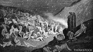 """Una escena del """"Infierno"""" de Dante, ilustrada por Gustave Doré (1832-1888)."""
