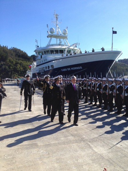 Inauguran primera fase de reconstrucción de muelles en la Base Naval Talcahuano