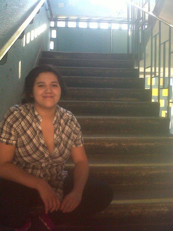 """""""¿De qué democracia me hablan? Ellos están guiando una masa inconsciente"""", dice Margarita Muñoz, presidenta del Centro de Alumnos del Liceo 1."""