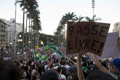 Protesta en Sao Paulo termina con actos de vandalismo y enfrentamientos