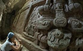 Hallan espectacular friso maya en Guatemala