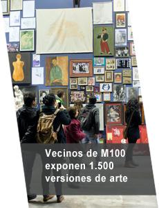 """Vecinos de """"Matucana 100"""" eligen sus propias obras de arte"""