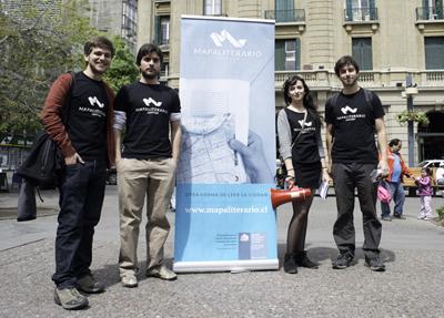 De izquierda a derecha, Joaquín Castillo, Diego Gallegos, Josefina Marambio y Federico FadicFoto: Javier Liaño