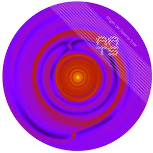 Simulación fluido hidrodinámica de la interacción entre múltiples planetas en formación y un disco protoplanetario.
