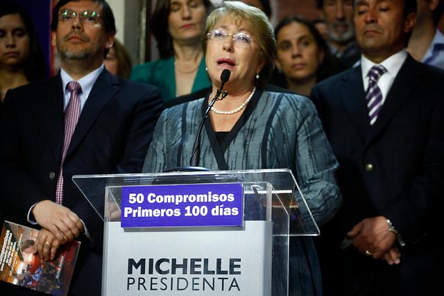 Bachelet: 'Hemos estado entregando propuestas programáticas por área todas las semanas'