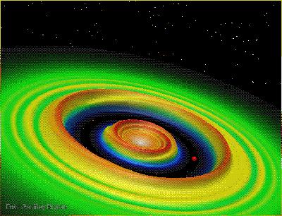 Simulación digital de la formación de un planeta
