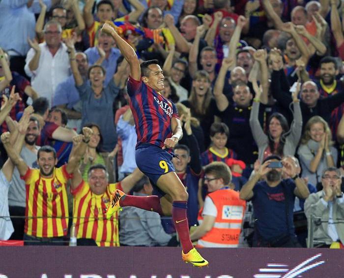 El golazo de Alexis Sánchez que permitió la victoria del Barcelona en el derby español