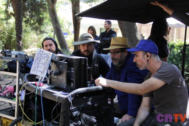 Ricardo Larraín en grabación de Niño Rojo