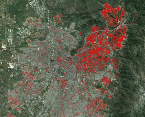 El mapa del cuiquerío de los universitarios en Santiago