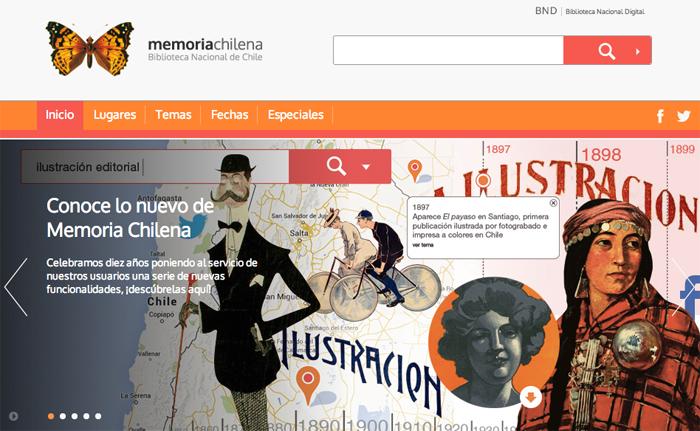 Memoria Chilena celebra diez años con nueva cara en la red