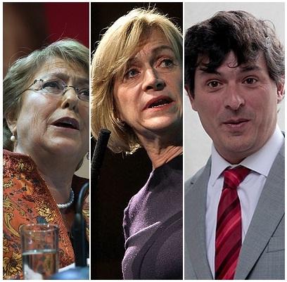Comando de Bachelet, Matthei y Parisi cursan permisos a Intendencia para actos post elecciones