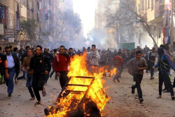 Al menos cuatro muertos en choques en el aniversario de la revolución egipcia