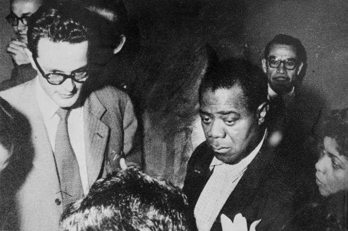 Pepe Hosiasson con Louis Armstrong