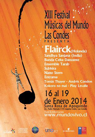 Músicas del Mundo presentará a grupo Flairck en Santiago y Viña del Mar