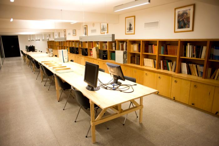 Nueva biblioteca del Museo Precolombino Foto: Javier Liaño