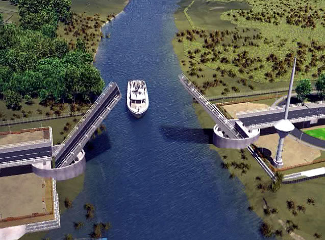 El mejor puente de la historia: MOP reconoce instalación al revés de brazos de obra sobre el río Cau Cau