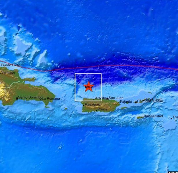 Fuerte sismo de 6,4 grados Richter sacudió pasada la medianoche a Puerto Rico
