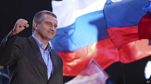 El líder crimeo pro Moscú, Sergei Aksyonov, celebró el resultado.