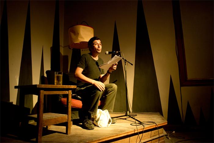 Uno de los expositores Germán Carrasco Foto: Javier Liaño