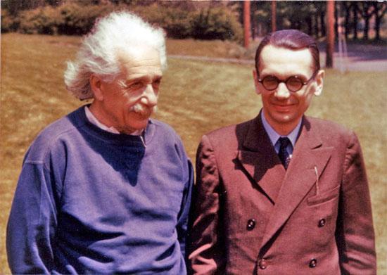 Albert Einstein y Kurt Gödel