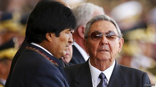 Evo Morales y Raúl Castro asistieron a los actos conmemorativos.