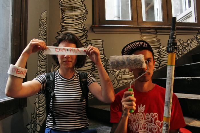 Artistas del street art francés dejan su huella en Santiago como parte de un intercambio cultural urbano