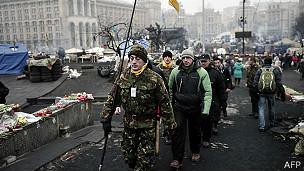 Las protestas en Ucrania comenzaron a finales del año pasado, pero se agravaron hace unas semanas.