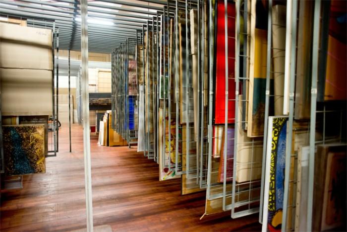 Depósito de las obras, que por seguridad, se mantiene secreto. Foto: Javier Liaño